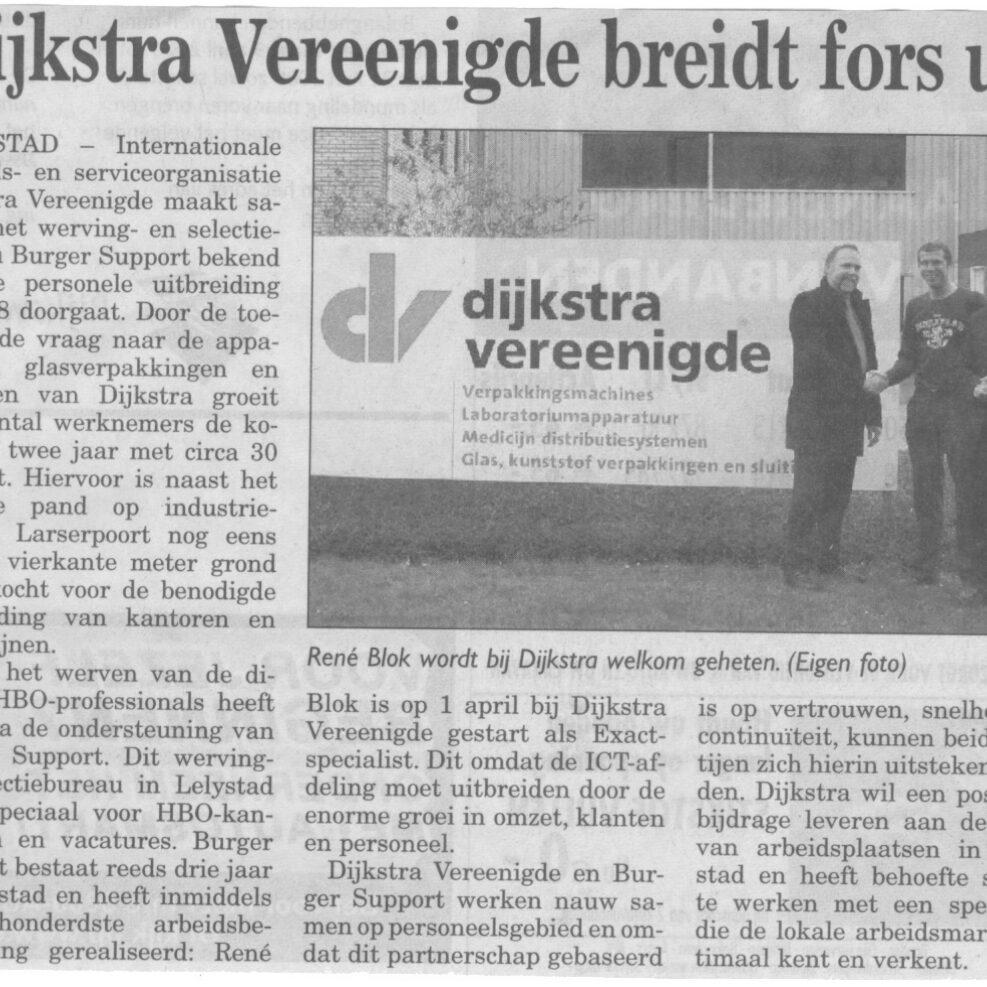 Flevopost 9 april 2008