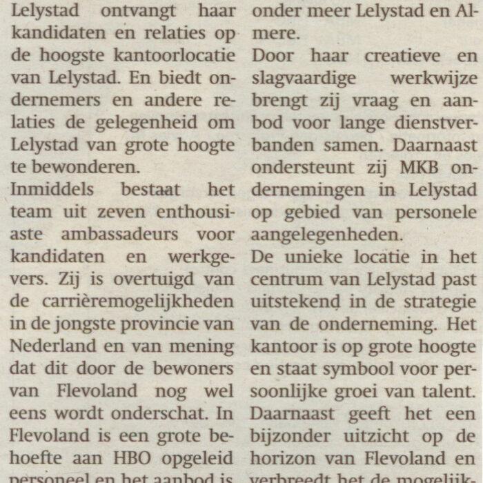 Krant van Flevoland 27 augustus 2008