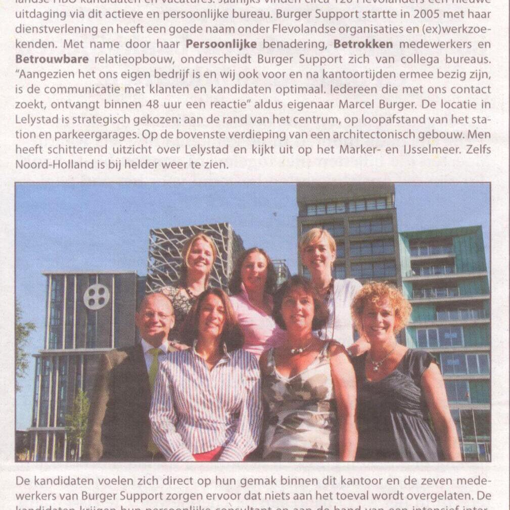 Nieuwsblad Lelystad augustus 2009